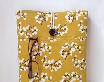 Custom Laptop Bag, Computer Sleeve 11, 12, 13, 14, 15 inch Case, Macbook Pro Cover, Macbook Air,Gadget Pocket Fabric Yellow Botanical Nature