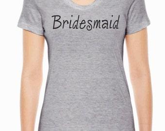 Bridesmaid American Apparel ladies wedding shirt