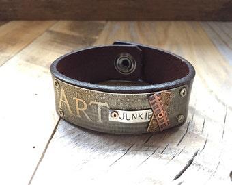 ART Junkie Leather Cuff