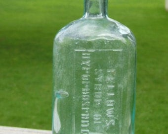 "vintage ""Fellows Syrup of Hypophosphites"" bottle"