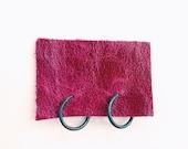 Small 12mm Black Hoop Earrings Oxidized Sterling Silver