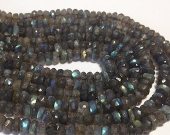 PREMIUM QUALITY BIG Labradorite Faceted rondelles