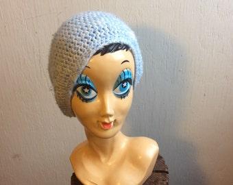 Vintage Baby Blue Knit Hat