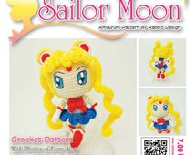 Popular items for sailor moon patterns on Etsy
