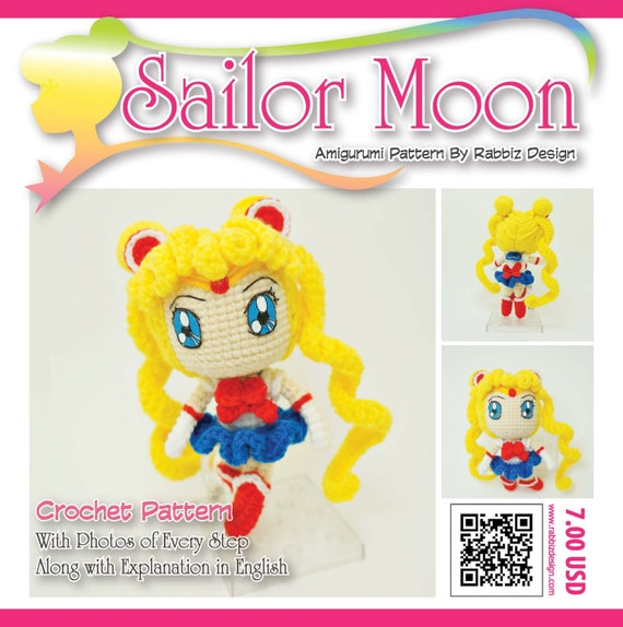 Amigurumi Sailor Moon : PDF Pattern Amigurumi Sailor Moon