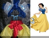 SNOW WHITE Anime Cosplay Collar Bolero Shrug  Burlesque apron skirt  Disney princess Moulin rouge French maid