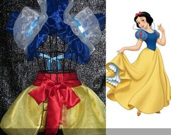 SNOW WHITE Anime Cosplay Collar Bolero Shrug  Burlesque apron skirt  Disney princess Moulin rouge French maid