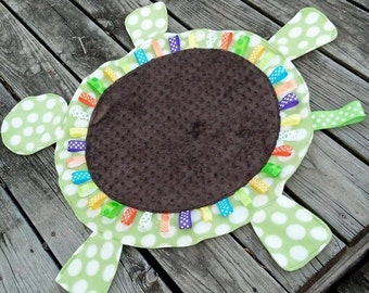 Dotted Minky Turtle Shaped Lovey