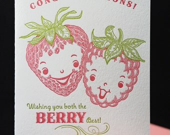 Berry best wedding card