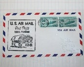 1957 First Flight U.S Airmail Lamar, Colorado Vintage Envelope
