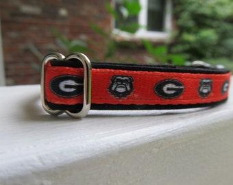 University of Georgia Cat or Small Dog Collar
