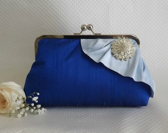 Wedding Clutch - Bridal Clutch - Wedding Purse - Bridesmaids Clutch - Bridesmaid Gifts - Blue Clutch Purse - Wedding Gifts - Giselle Clutch
