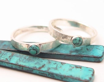 LAST 1, Turquoise ring, Minimalist ring, Stack Ring,  Thumb Ring Size 12