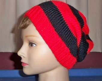Red and Black Hat