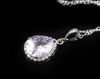 Bridal Necklace Wedding Jewelry Cubic Zirconia Wedding Necklace Diana
