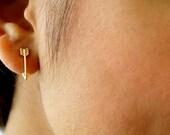 Arrow Stud Earrings Bohemian Dainty Arrow Earrings Gold plated Earrings Gifts for Her Minimalist Jewelry Tiny gold Earrings