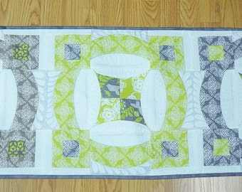 "Table Runner Beautiful custom quilted extra large for table or side board 18.5"" X 54"""