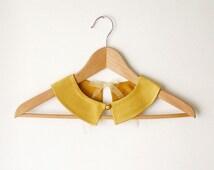 PeterPan Collar  Gold  Double Face Detachable Collar
