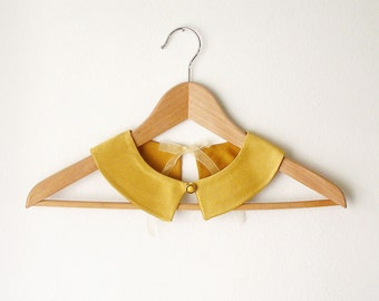 PeterPan Collar  Gold  Double Face Detachable Collar