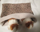 Snuggle Pouch/Cuddle Sack for Hedgehog, Guinea Pig, Small Animals 12 1/2 X 11 1/2 in Fleece and Flannel Reversible