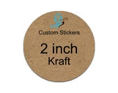 custom brown kraft stickers 2inch circle labels laser printed round