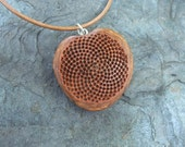 Sacred geometry - Heart Mandala jewelry - botanical Protea necklace -  natural Fibonnacy sequence jewelry handmade in Australia