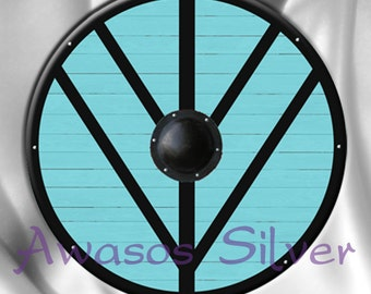 Vikings inspired Lagertha shield maiden viking shield keychain/bottle opener, magnet, pocket mirror or pinback button
