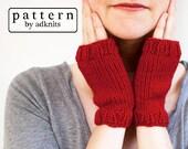 Pippin Fingerless Mitten Knitting Pattern, Fingerless Glove Pattern, Digital PDF Download File