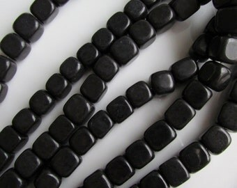 Blackstone Cube 8mm by 8mm Beads 20pcs about 7 inches (18cm)
