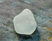 Chunky, Frosted Rare Soft Gray Seaglass. Top Drilled from Puerto Rico. Lot M2.