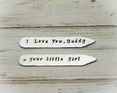 Personalized Collar Stays, Hand Stamped Collar Stays, Personalized Collar Stays, Groomsmen Gift, Father's Day Gift, Groom Gift, For Him Gift