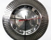 1966 Ford Fairlane Clock - 1967 Galaxie Hubcap Wall Decor - 1966 Falcon Hub Cap