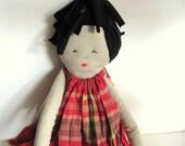 DanDan-- Doll----Child friendly---Recycled---Fabric Doll-toys- Cotton-handmade-children love--gift--under 55 USD