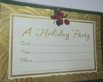 1980's Christmas Holiday Party Hallmark announcements invitations unopened package vintage