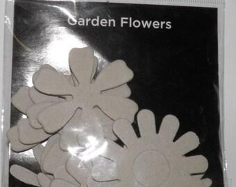Bazzill Chipboard Garden Flowers