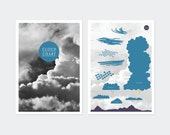 Cloud Chart - double sided A3 poster science infographic clouds weather