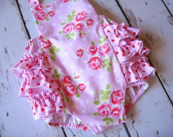 Ready to ship, New Sweetheart Roses Retro Sunsuit 6-12 months 50% off