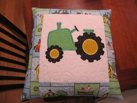 John Deere Applique Embroidery Design : John deere tractor quilted applique embroidery by melodylink