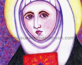 St. Catherine of Siena - Patron of Nurses and Firefighters - Catholic Art Print