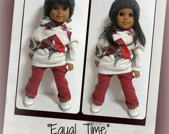 American girl doll clothes  - Equal Time - Unisex