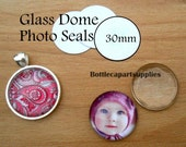 30mm CLEAR Round Double Adhesive Easy INSTANT Sticker Seals for Glass Domes Photo Jewelry. Alternative to Resin and Glaze. 2 sided Stickers