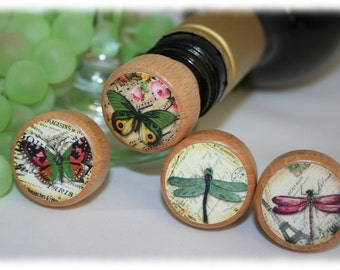 Dragonfly Wine Stoppers, Butterfly Wine Stoppers- Wedding Wine Stoppers, Bridesmaid Wine Stopper