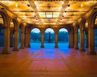 New York photography Central Park Photo nyc print Manhattan Bethesda Terrace Arcade  nyc42