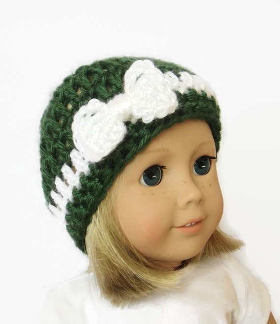Christmas Doll Hat Knit Doll Beanie 18 Inch Doll Clothes