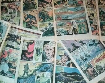 16 Comic Book Pages, featuring your choice of  Superheroes, The Archies, War Stories, or Ghosts and Hauntings! Crafting Scrapbooking Supply