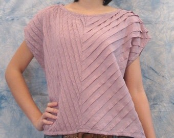 SALE 15% OFF --B102--Nice and sweet (Cotton Blouse with pleats)