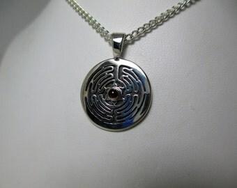 Circle Labyrinth Pendant