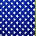 """Royal Blue with 1 3/8"""" White Stars Spandex Fabric"""