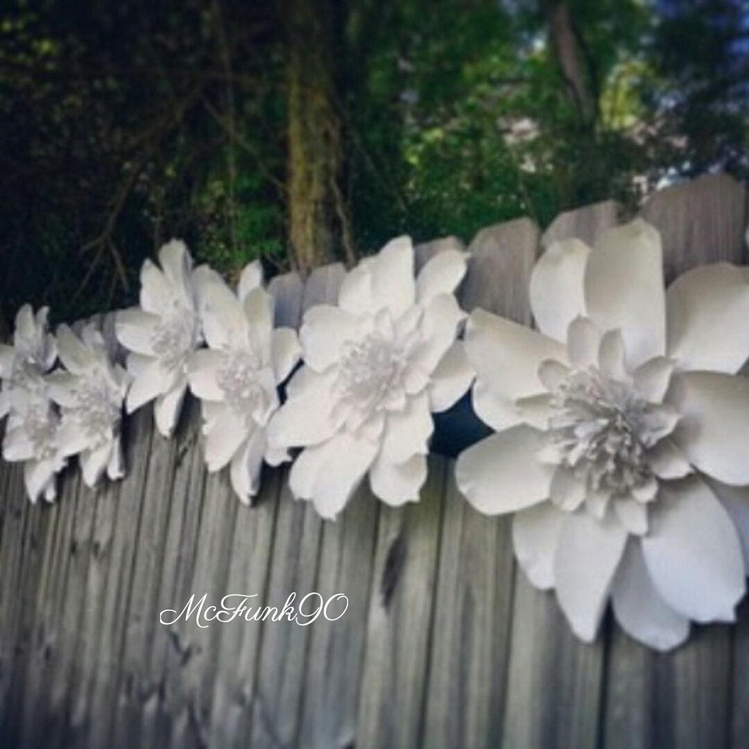 Weddings Large Handmade Paper Magnolia 10 18 Inch Flowers In