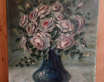 20% Off SALE Coupon Code FAVORITE20 Antique Still Life Oil Painting Signed M Knoth 1924